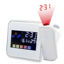 Digital Snooze Led Projection Alarm Clock Backlight Time Calendar Thermometer