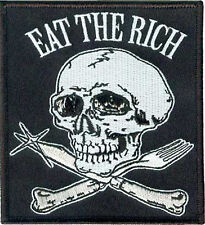 Patch Eat the Rich Class War Warfare Occupy Income Inequality Punk Skull NFP027