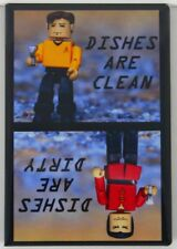 "Captain Kirk & Khan Clean / Dirty Dishwasher Magnet 2""x3"". Star Trek TOS"