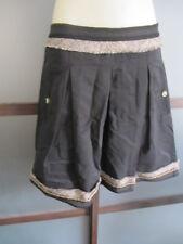 BCBG Max Azria Skirt Sz 0 XS Cotton Blend A Line Chain Hem Metallic Details Cute