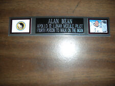ALAN BEAN (ASTRONAUT) NAMEPLATE FOR PHOTO/DISPLAY