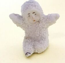 More details for antique bisque snow baby christmas cake topper ornament - a9
