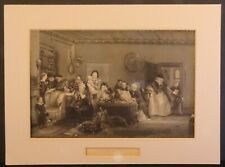 More details for antique etching david wilkie reading the will c1850 solicitor lawyer gift