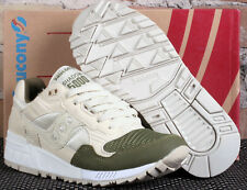 New Saucony Shadow 5000 Cream Tan Forest Green Low Running Shoes - Men's Size 5