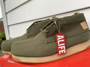 ALIFE KENNEDY HI CANVAS SNEAKERS MEN SHOES KHIOLC-SP081 OLIVE SIZE 12 BRAND NEW