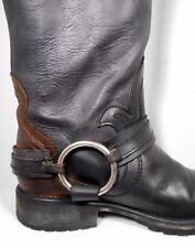 Steve Madden Judgement Distress Leather Riding Biker Boot Women US 5 Light Wear