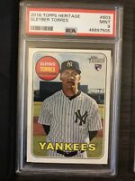 2018 Topps Heritage Gleyber Torres Rookie PSA 9 New York Yankees RC QTY