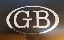 1 x Chrome Effect Oval GB Car Sticker