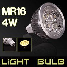 New 4W MR16 4W 12V 4LED Flat Fluorescent Lamp Spotlight Bulb 360LM Pure White