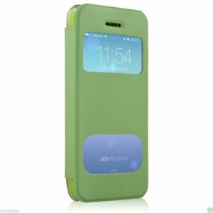 New HyperGear ID Flip Cover with Clear Back for Apple iPhone 5c - Green # 12794