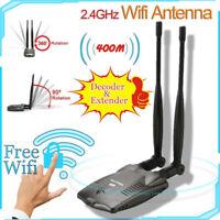 Password Crack Internet Long Range Dual Wifi Antenna USB Wifi Adapter Decoder IG