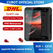 5'' Cubot Quest Lite IP68 4G Handy 3GB+32GB Smartphone Android 9.0 Pie 3000mAh