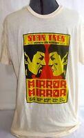Star Trek: Mirror Mirror-Leonard Nimoy Spock-Mens T-Shirt, Size Large