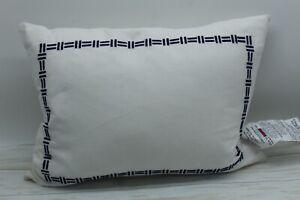 RALPH LAUREN Nicola Embroidered BOUDOIR Decorative Pillow Cotton Cream/Navy NW