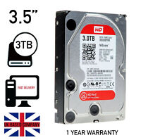 "Western Digital WD Red 3TB,Internal,5400 RPM,8.89 cm (3.5"") (WD30EFRX) HARDDRIVE"