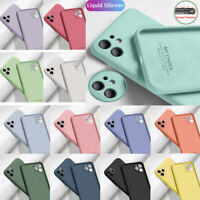 Liquid Silicone Case For iPhone 12 11 Pro Max XR XS 7 8 Plus SE Shockproof Cover
