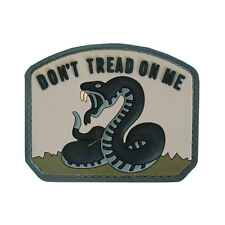 3D PVC Don't Tread On Me Military Army Tactical Airsoft Morale Patch Urban