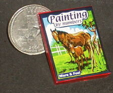 Dollhouse Miniature Mare & Foal Paint-by-Number Box 1:12 Cowboy Children