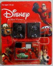 DISNEY MINI VIEWER CARS - THE INCREDIBLES VIEWER w/ 2 PACKS VIEW MASTER SEALED