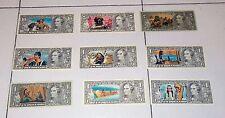 9 diverse figurine EDIS TORINO serie Far West Dollari Banconote Punti Raccolta