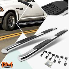 For 09 20 Dodge Ram Crew Cab Curved 4 Side Step Nerf Bar Running Board Chrome Fits Dodge Ram 1500