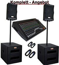 DJ PA Musikanlage BANDANLAGE komplett ANLAGE 8000 WATT max. Powermixer 16-Kanal