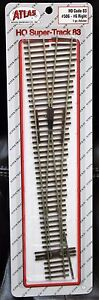 HO Scale - ATLAS SUPER TRACK Code 83 # 506 # 6 R/H Manual Turnout Nickel Silver