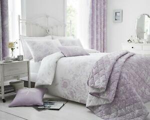 Lilac Floral Border Bedding Sets