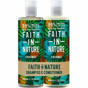 Faith In Nature Shampoo & Conditioner Duo Pack COCONUT All Hair Types 800ml