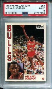 Michael Jordan 1992-93 Topps Archives #52 Base Card PSA 9 MINT Chicago Bulls b