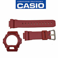 Casio G-Shock Original DW-6900MF-4 Red 16mm Watch band & Bezel Rubber Set