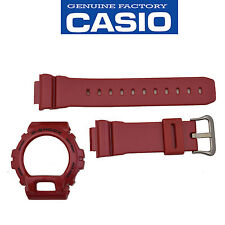 Casio G-Shock Original DW-6900MF-4 Red 16mm Watch band & Bezel Rubber Set