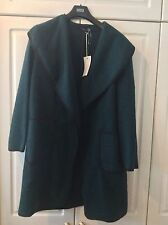 Ladies Brand New Marks and Spencer's  Forest Green Blanket Coat in Size Large
