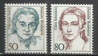 8231D-MUJERES FAMOSAS CELEBRES MNH** SERIE COMPLETA ALEMANIA 1136/7  AÑO 1986