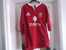 British And Irish Lions Rugby Unon Shirt Large Size 46 Ins Adidas Make