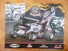 2014 Steve Kinser 8 1/2 X 11 Salute To The King World Of Outlaws Photo Card