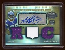 ADRIAN PETERSON 2007 TRIPLE THREADS RC AUTO #D /89 JERSEY/PATCH/JERSEY VIKINGS