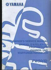 (23B) REVUE TECHNIQUE MANUEL ATELIER MOTO YAMAHA PW50 (S)