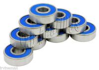 "10 R168-2RS 1/4""x 3/8""x 1/8"" R168RS inch Miniature Ball Radial Ball Bearings"