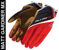 Alloy Motocross Gloves MX MotoX 06 Clutch Red Size Kids Large 7 Enduro Quad Bike