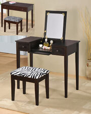Brand New Contemporary Designed Wood Vanity Set With Flip Mirror -Espresso- Asdi