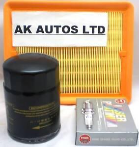 FOR HYUNDAI TRAJET 2.7 MPV 1999-2004 3PC SERVICE PARTS OIL AIR & SPARK PLUGS KIT
