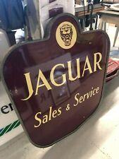 "Emailtafel, doppelseitig, ""Jaguar Sales & Service"", 50er Jahre, vintage, rar"