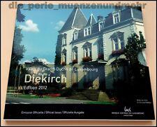 """Offizieller KMS Luxemburg 2012 """"Diekirch"""" mit 2 X 2 Euro Gedenkünzen 7,88€ BU"""