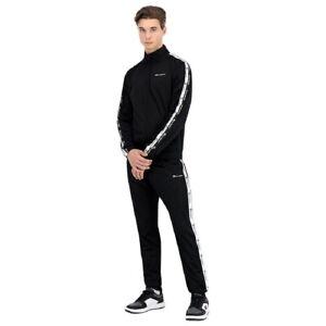 Champion Men Tracksuit Black Polyester Athletic Gym Casual Clothing 215984-KK001