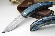 Taschenmesser Damastmesser Damast Klappmesser BACK LOCK Messer Jagdmesser #148