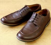 TBS Men's Lace-up Derby Brown Leather Shoes EU 44 UK 9.5