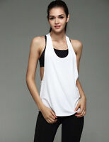 Women Sports Vest Tank Fitness Gym Stretch Workout Sleeveless Blouse Top T-Shirt