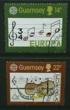 GUERNSEY 1985 Europa: European Music Year. Set of 2. Very Fine USED. SG340/341.