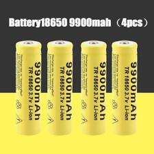4x 9900mah 3.7v Li-Ion Baterías recargables para Linterna LED Bombilla ansioso